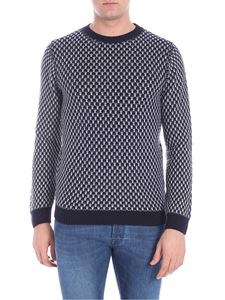 Daniele Fiesoli Italia - Blue and grey crewneck pullover
