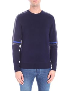 PS by Paul Smith - Dark blue pullover with multicolor stripes