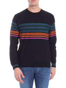 PS by Paul Smith - Black pullover with multicolor stripes