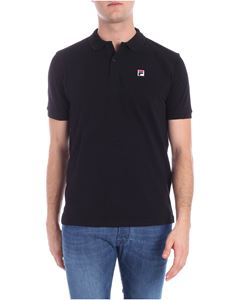 Fila - Black polo with logo patch