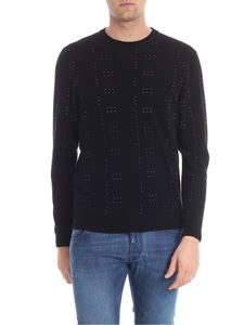 PS by Paul Smith - Black pullover with multicolor embroidery