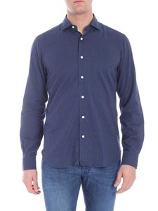 Barba - Blue shirt with geometric print