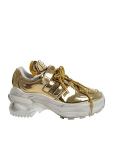 Maison Margiela - Chunky golden sneakers with lamé laces