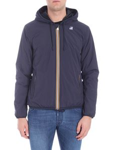 K-way - Blue jacket with multicolor zip