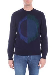 PS by Paul Smith - Dark blue pullover with green and blue detail