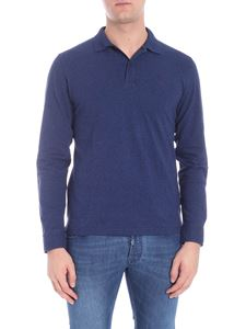 Sun 68 - Blue long-sleeved polo