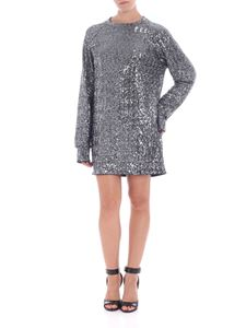 Balmain - Silver and blue sequins dress