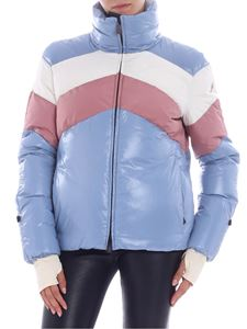 "Moncler Grenoble - ""Lamar"" pink and white blue down jacket"