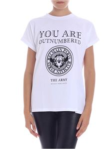 Balmain - Printed white t-shirt