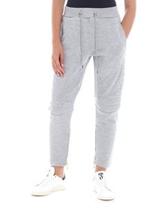 Balmain - Grey melange sweat pants with zip