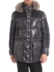 Moncler - Frey grey down jacket with fur insert