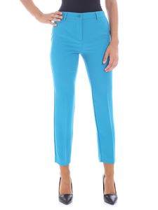 Blugirl - Turquoise color trousers with golden logo