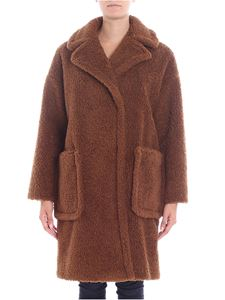"Max Mara Weekend - ""Reale"" brown double-breasted coat"
