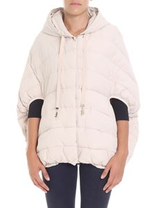 Elisabetta Franchi - Cream-colored overfit quilted jacket