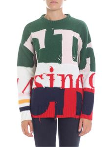 Iceberg - Colorblock pullover with embroideries