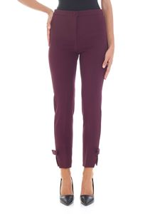 Blumarine - Purple trousers with bows