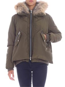 """Canadian - """"Webequie Nyl"""" army green down jacket"""