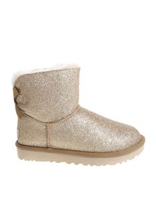 "UGG Australia - Golden ""Mini Bailey Bow Sparkle"" boots"
