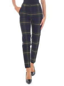 Moschino Boutique - Blue, green and yellow check trousers