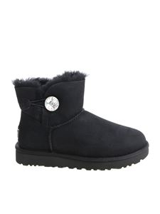 "UGG Australia - ""Mini Bailey Button Bling"" black ankle boots"