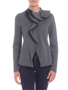 Emporio Armani - Grey and black knitted jacket