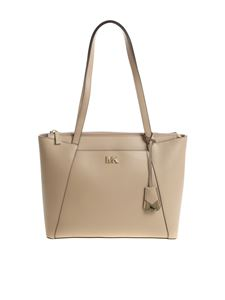 "Michael Kors - ""Maddie"" dove grey shoulder bag"