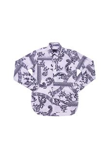 Versace Young - White shirt with optical print