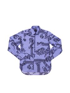Versace Young - Light-blue shirt with optical print