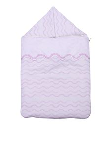 Versace Young - White blanket with pink print