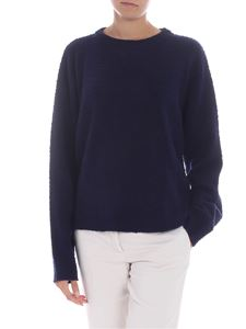 Erika Cavallini Semi-couture - Blue wool and cashmere pullover