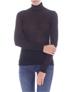 Semicouture - Top nero a collo alto