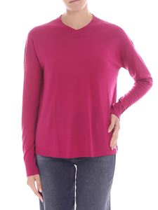 Aspesi - Cyclamen color V-neck pullover