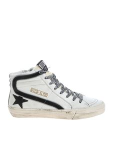 "Golden Goose Deluxe Brand - ""Slide"" white leather sneakers"
