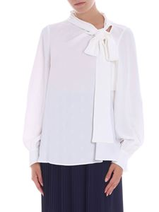 MSGM - White blouse with tone-on-tone stars pattern