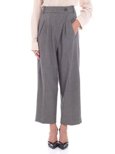 Erika Cavallini Semi-couture - Grey worked fabric cropped trousers