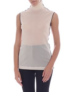 Helmut Lang - Top in rete color crema