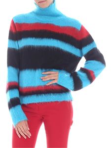 Dondup - Turquoise red and black turtleneck