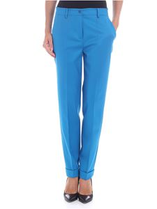 Parosh - Turquoise trousers with turn-ups