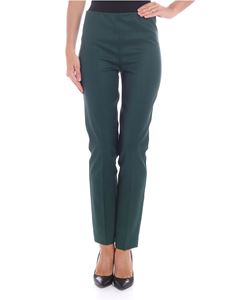 Parosh - Dark green diagonal fabric trousers
