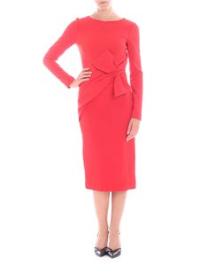Parosh - Long red dress with bow detail