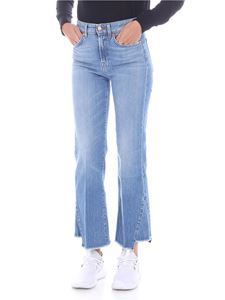 7 For All Mankind - Jeans crop azzurro