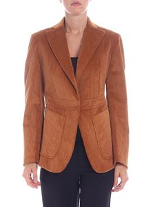 L'Autre Chose - Giacca marrone in corduroy