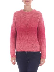 Ballantyne - Pink knitted crew-neck pullover