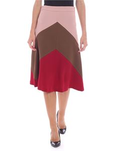 Parosh - Pink red and brown skirt