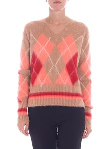 Ballantyne - Camel colored pullover with inlays