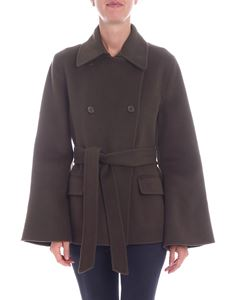 Parosh - Army green double-breasted coat
