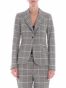 Parosh - Beige check printed jacket