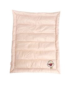 Moncler Jr - Pink blanket with embroidery