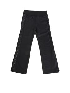 Givenchy - Black trousers with branded stripes