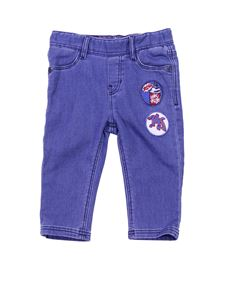 Little Marc Jacobs - Blue denim pants with patches